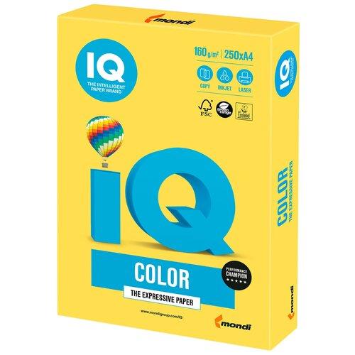 Фото - Бумага IQ Color А4 160 г/м² 250 лист., канареечно-желтый CY39 бумага iq color а4 color 120 г м2 250 лист оранжевый or43 1 шт
