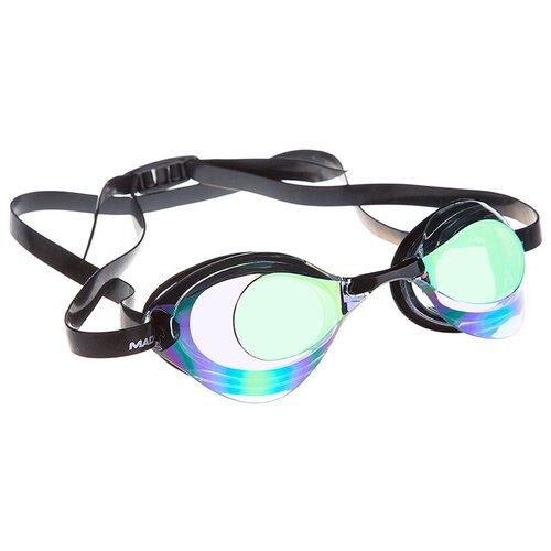 Очки для плавания MAD WAVE Turbo Racer II Rainbow, violet очки для плавания mad wave turbo racer ii black orange