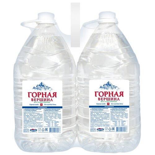 Минеральная питьевая вода Горная вершина негазированная, ПЭТ, 2 шт. по 5 л вода питьевая горная вершина негазированная 1 5 л