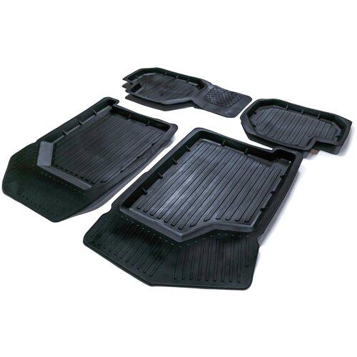 Резиновые 3D Standart коврики в салон SRTK для ВАЗ (LADA) 2113 1 поколение [2005-2013], ВАЗ (LADA) 2114 1 поколение [2001-2013], ВАЗ (LADA) 2115 1 поколение [1997-2012]