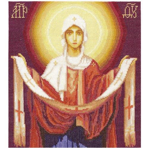 Купить PANNA Набор для вышивания Икона Божией Матери Покров Пресвятой Богородицы 27 x 30.5 см (CM-1270), Наборы для вышивания