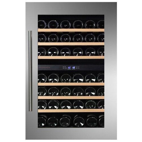 Фото - Встраиваемый винный шкаф Dunavox DAB-42.117DSS винный шкаф 81 л на 32 бутылки монотемпературный серый dau 32 81ss dunavox