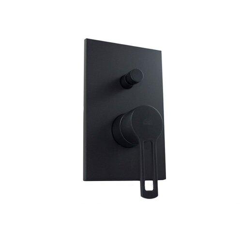 Смеситель для ванны с подключением душа Paffoni Ringo RIN015 color черный матовый смеситель для ванны с подключением душа paffoni el015no m однорычажный встраиваемый черный матовый