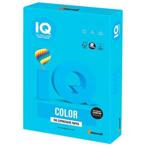 Фото - Бумага IQ Color А4 160 г/м² 250 лист., светло-синий AB48 бумага iq color а4 color 120 г м2 250 лист оранжевый or43 1 шт