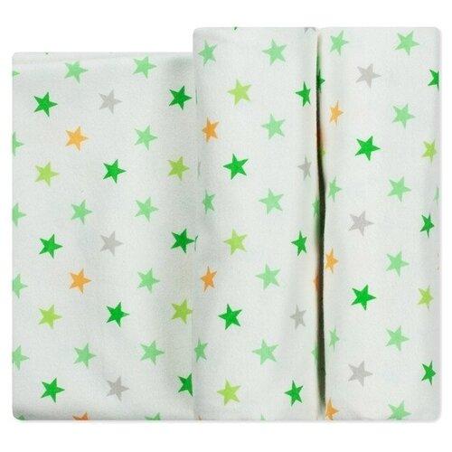 Многоразовые пеленки Чудо-Чадо Тренды фланель 120х90 набор 2 шт. звезды зеленые
