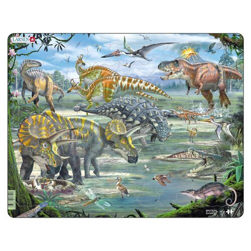 Фото - Рамка-вкладыш Larsen Динозавры (FH31), 65 дет. рамка вкладыш larsen азбука ls8 30 дет