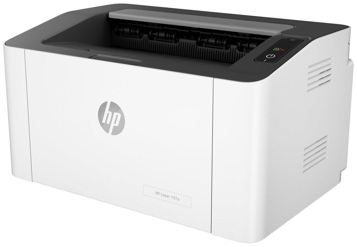 Принтер HP Laser 107a, белый/черный