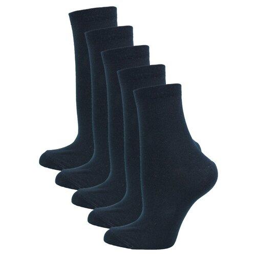 Женские Классические носки Годовой запас, 5 пар, черные, 25 (39-41)