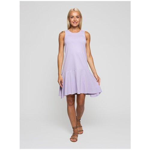 Женское легкое платье сарафан, Lunarable лиловое, размер 48