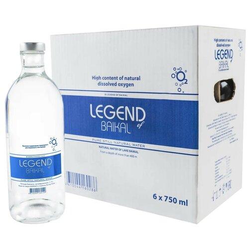 Легенда Байкала. Вода питьевая глубинная - без газа. Стекло 6 шт в упаковке по 0,75 л