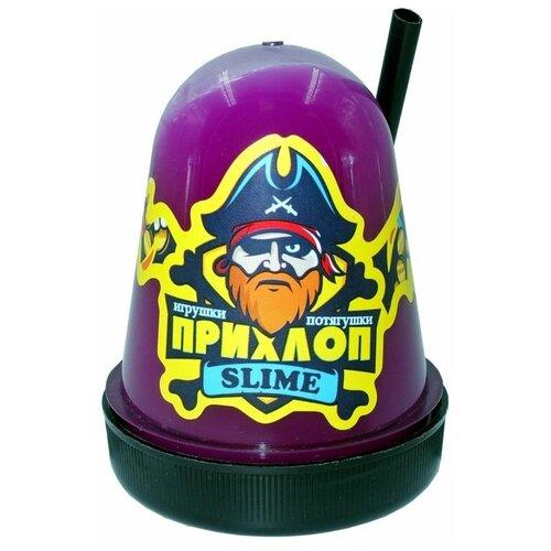 Лизун Слайм Прихлоп флуоресцентный с шариками фиолетовый