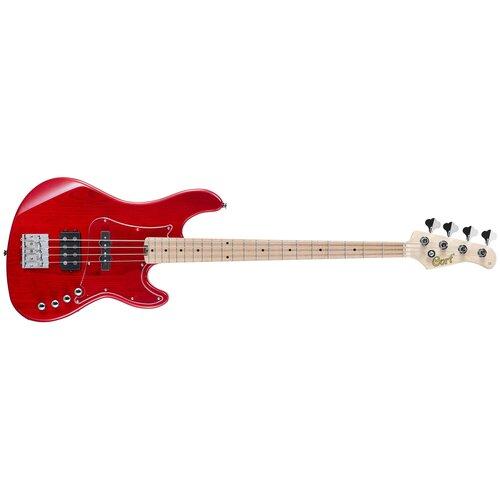 Бас-гитара Cort GB74JH Trans Red электрогитара cort x500