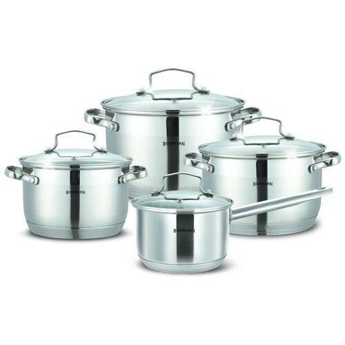 Фото - Набор посуды Bohmann 1908BH/BHG 8 пр. стальной bohmann набор для специй 7817bh стальной