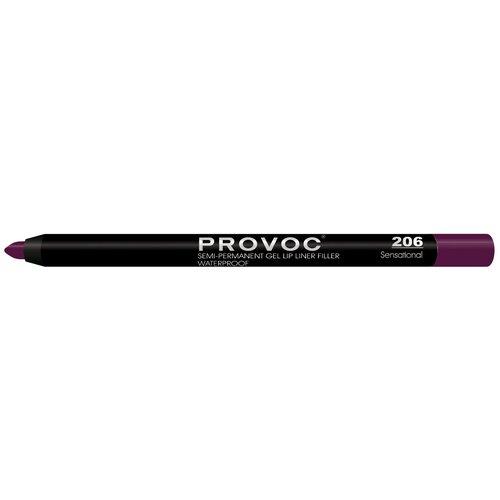 Provoc гелевая подводка в карандаше для губ Semi-Permanent Gel Lip Liner 206 sensational недорого