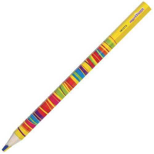 Купить Юнландия Карандаш с многоцветным грифелем (181373) желтый/красный, Цветные карандаши