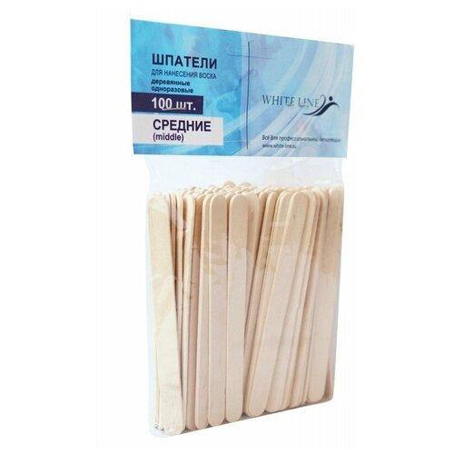 ItalWax Шпатели деревянные средние 100 шт.