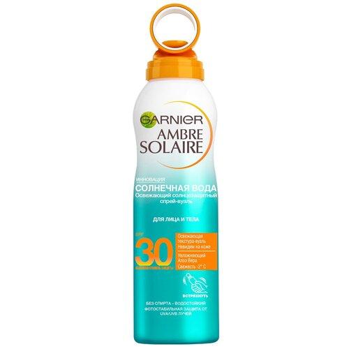 GARNIER Ambre Solaire солнцезащитный спрей-вуаль Солнечная вода SPF 30 200 мл недорого