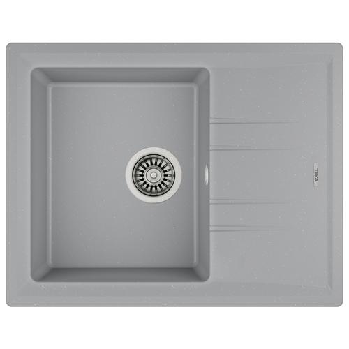 Врезная кухонная мойка 65 см TEKA Stone 45 S-TG 1B 1D серый металлик