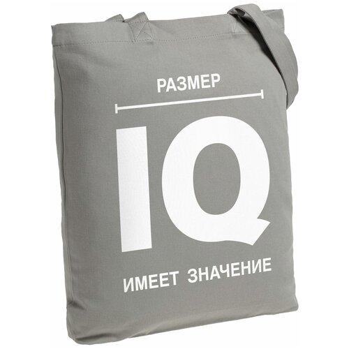 Сумка-шоппер «Размер IQ», серая