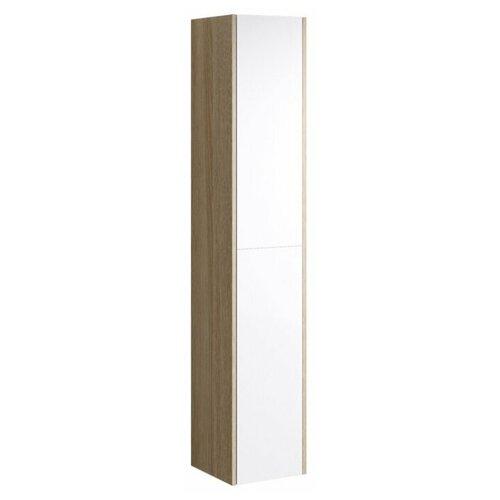 Шкаф-пенал для ванной Aqwella Miami Mai.05.03, (ШхГхВ): 30х30х159 см, белый/дуб сонома шкаф пенал для прихожей мастер ольга ояп шхгхв 45х35х200 см дуб сонома