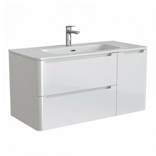 Фото - Тумба для ванной комнаты с раковиной IDDIS Edifice 100, ШхГхВ: 100х47х50 см, цвет: белый тумба для ванной комнаты с раковиной am pm like напольная шхгхв 80х45х85 см цвет белый глянец