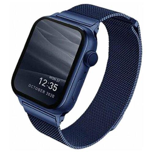 Ремешок Uniq для Apple Watch 44/42 mm Dante Strap Mesh стальной синий