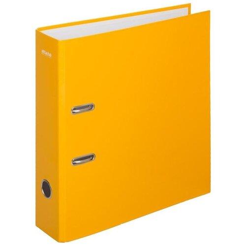 Купить Attache SELECTION Папка-регистратор Crocus А4, ламинированный картон, 75 мм желтый, Файлы и папки