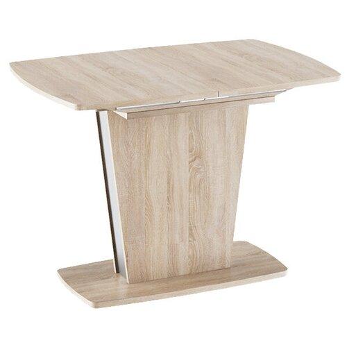Стол кухонный ТриЯ Ливерпуль Тип 1, раскладной, ДхШ: 110 х 75 см, длина в разложенном виде: 150 см, дуб сонома/металлик стол обеденный трия ливерпуль тип 1 дуб сонома трюфель металлик