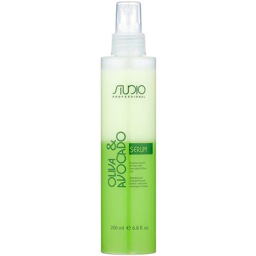 Kapous Professional Studio Professional Oliva & Avocado Двухфазная сыворотка для волос с маслами Авокадо и Оливы, 200 мл недорого