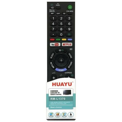 Фото - Пульт универсальный Huayu RM-L1351 для Sony пульт универсальный huayu для thomson tcl rm l1330