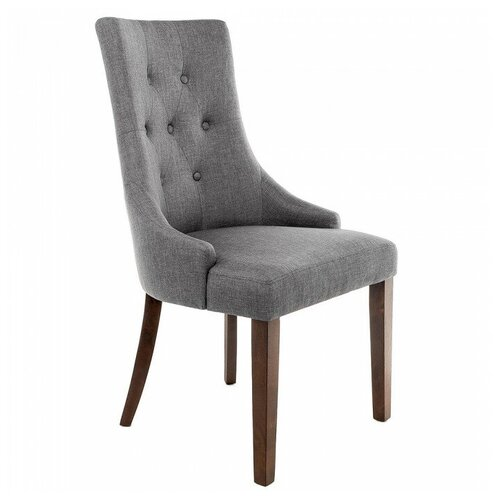 Фото - Стул Woodville Elegance, дерево/текстиль, цвет: dark walnut/fabric grey стул woodville amelia dark walnut fabric cream