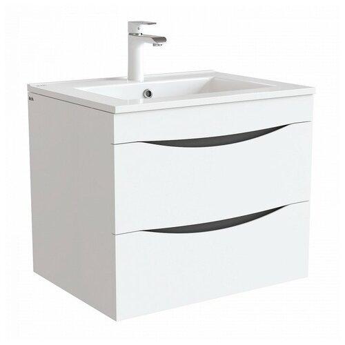 Фото - Тумба для ванной комнаты с раковиной IDDIS Cloud, ШхГхВ: 60.3х46х50 см, цвет: белый тумба для ванной комнаты с раковиной am pm like напольная шхгхв 80х45х85 см цвет белый глянец