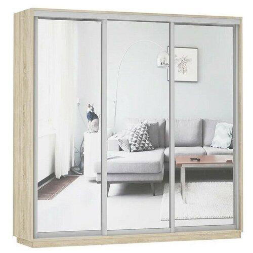 Шкаф-купе для одежды Е1 Экспресс Экспенс Трио, (ШхГхВ): 180х60х220 см, дуб сонома шкафы купе для одежды