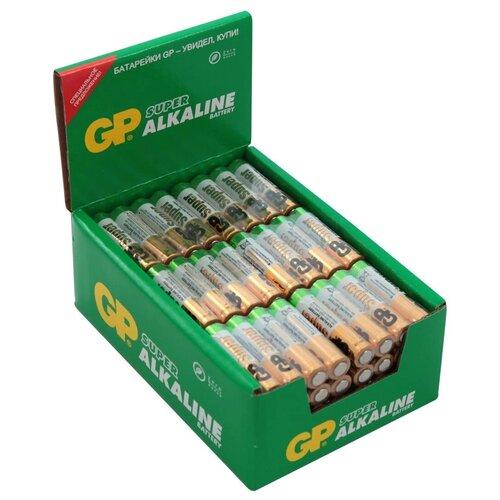 Фото - Батарейка алкалиновая GP Batteries Super Alkaline, тип ААА, 96 шт батарейка gp alkaline 192 g3 lr41 алкалиновая 1 шт в блистере отрывной блок 192 2cy 4891199015533