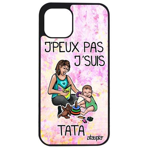 "Чехол на Apple iPhone 12 pro, ""Не могу - стала тетей!"" Семья Пародия"