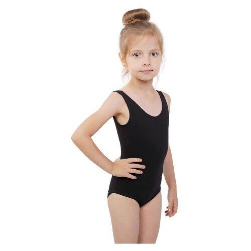 Купальник гимнастический на широких бретелях, р.30 цвет черный 3651809