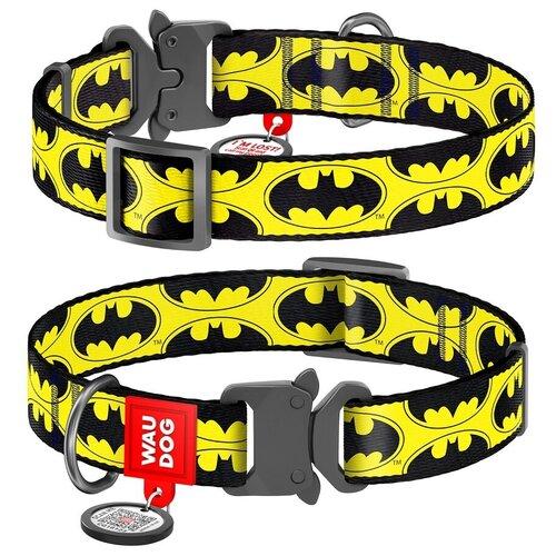 Фото - WauDog Ошейник для собак Nylon с рисунком Бэтмен Лого (ширина 15 мм, длина 23-35 см) ошейник для собак collar waudog с рисунком цветы 15 мм 27 36 см черный