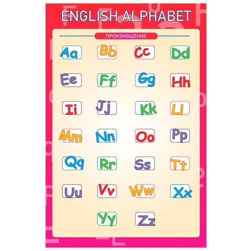 Купить Плакат Квинг А2 Английский алфавит — плакат по английскому языку, Обучающие плакаты