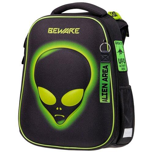 Купить Berlingo ранец Expert Alien, черный/салатовый, Рюкзаки, ранцы