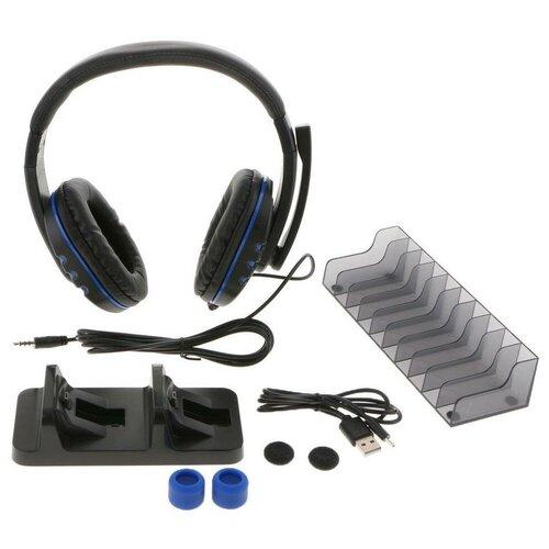 Dobe Комплект аксессуаров 5 in 1 Game Pack для консоли PlayStation 4 (TP4-18101) черный