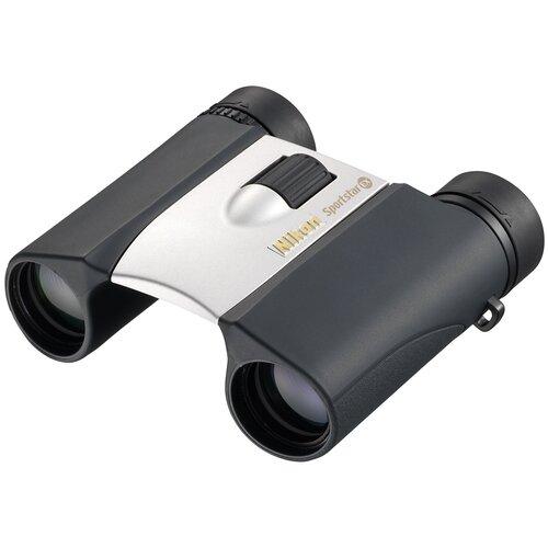 Фото - Бинокль Nikon Sportstar EX 10x25 DCF серебристый бинокль konus basic 10x25 черный серый