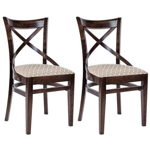 Комплект стульев Аврора Соло венский, орех темный/призма 2 шт.