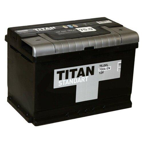Автомобильный аккумулятор TITAN STANDART 6CT-75.0 VL