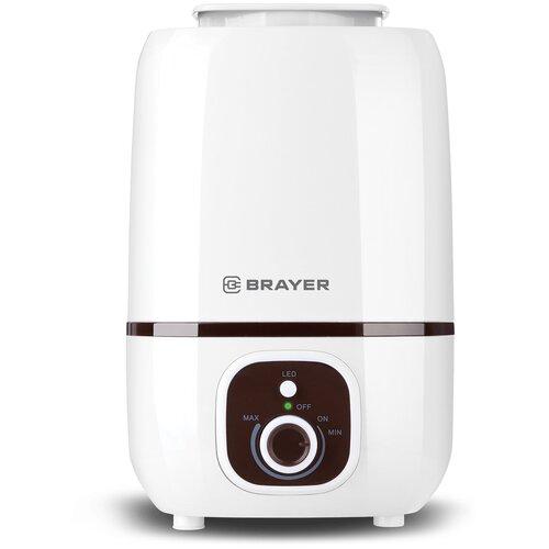Увлажнитель воздуха BRAYER BR4701, белый/коричневый увлажнитель воздуха brayer br4701 белый коричневый