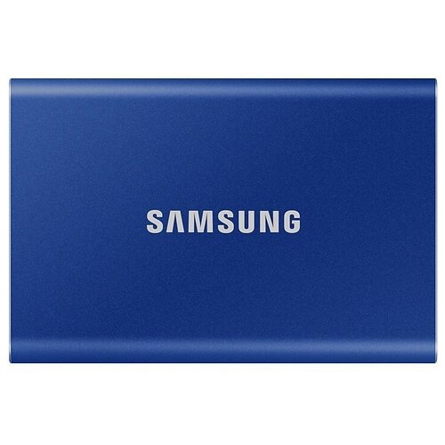 Фото - Внешний SSD Samsung T7 1 TB, синий внешний ssd samsung t7 touch 1 tb серебристый
