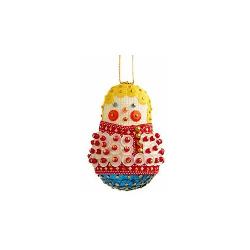 Купить Набор для творчества - елочная игрушка Ванька-встанька 6 см FS-073, ФИЛИГРИС, Изготовление кукол и игрушек