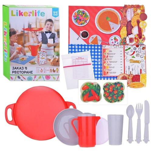 Набор посуды S+S Toys Заказ в ресторане 200152852 красный/белый