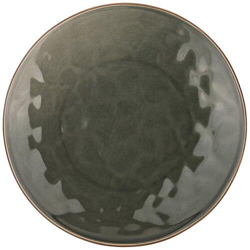 Тарелка закусочная sentiment 21 см серый Bronco (410-120)