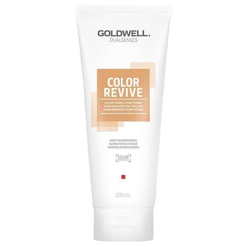Купить Goldwell оттеночный кондиционер для волос Dualsenses Color Revive Conditioner Warm Dark Blond Теплый темный блонд, 200 мл