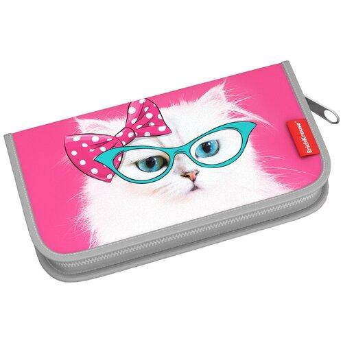ErichKrause Пенал-книжка Cool Cat (44940), розовый, Пеналы  - купить со скидкой